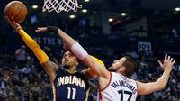 Indiana Pacers harus menunda langkah menuju babak play-off NBA 2015/2016 setelah takluk dari Toronto Raptors 98-111