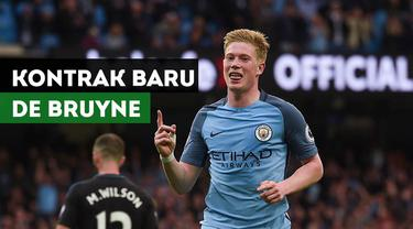 Berita video mengenai Kevin De Bruyne yang resmi memperpanjang kontraknya di Manchester City.