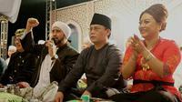 Wakil Ketua MPR Ahmad Basarah menghadiri acara  Tabanan Harmoni Salawat untuk Negeri bersama Habib Syech bin Abdul Qodir Assegaf (Istimewa)