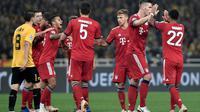 Bayern Munchen menang dua gol tanpa balas atas AEK Athens pada laga ketiga Grup E Liga Champions, di OACA Spyros Louis, Selasa (23/10/2018) malam waktu setempat. (AFP/LOUISA GOULIAMAKI)