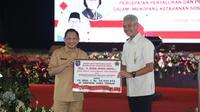 Rapat Kerja Percepatan Penyaluran dan Pengelolaan Dana Desa Tahun 2020 di Holy Stadium Kompleks Grand Mariana, Kota Semarang, Provinsi Jawa Tengah, Selasa (18/02/2020).