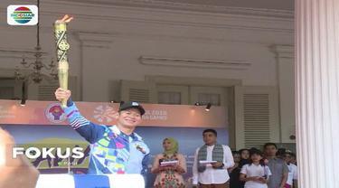 Obor Asian Para Games 2018 tiba di Jakarta. Obor nantinya akan diarak keliling Ibukota melalui sejumlah jalan utama.