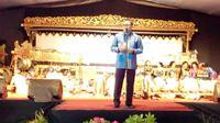 Yang menarik, lakon Broto Seno Babat Alas dibawakan Mendikbud Prof Muhadjir Effendi. (Liputan6.com/Yuliardi HP)