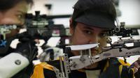 Vidya Rafika Rahmatan Toyyiba menikmati pengalamannya di Olimpiade Tokyo 2020. (NOC Indonesia)