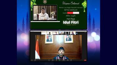KBRI Kairo menyelenggarakan halal bihalal secara virtual dengan para WNI di Mesir.
