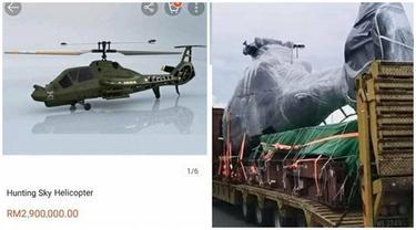 Dikira Pesan Mainan, Pria Ini Terkejut saat Datang Justru Helikopter Asli
