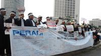Demo Peradi tolak RUU Advokat (Liputan6.com/ Ahmad Romadoni)