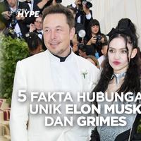 Fakta Hubungan Unik Elon Musk dan Grimes