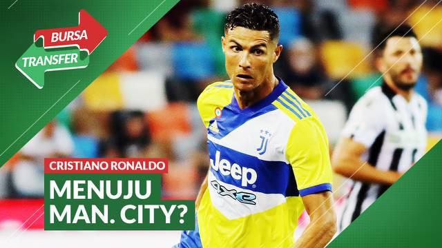 Berita video Bursa Transfer kali ini membahas Cristiano Ronaldo yang berpeluang ke Manchester City. Bila itu terjadi, Raheem Sterling kemungkinan bisa hengkang.